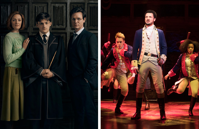 Harry Potter and the Cursed Child and Hamilton casts. Photos: Charlie Gray and Matthew Murphy