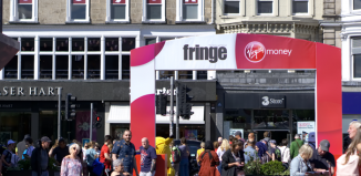 Virgin branding at last year's Edinburgh Festival Fringe. Photo: Shutterstock