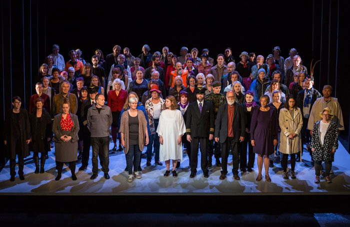 Cast of The Hour We Knew Nothing of Each Other at Royal Lyceum Theatre, Edinburgh. Photo: Aly Wight