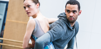 Dancers in rehearsal for George Williamson's new piece Embrace, commissioned as part oftheBallet Nowproject