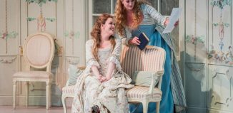 Kitty Whately and Eleanor Dennis in Cosi Fan Tutte at Opera Holland Park. Photo: Robert Workman