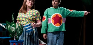 Bea Holland and Guy Rhys in Not Now, Bernard at London's Unicorn Theatre. Photo: Camilla Greenwell