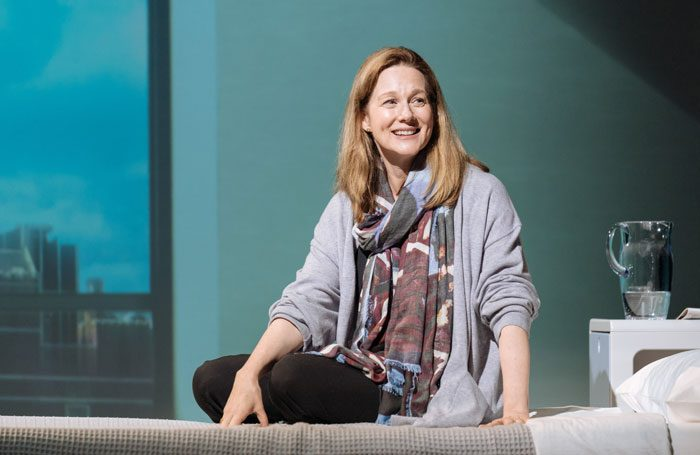 Laura Linney in My Name Is Lucy Barton at Bridge Theatre, London. Photo: Manuel Harlan