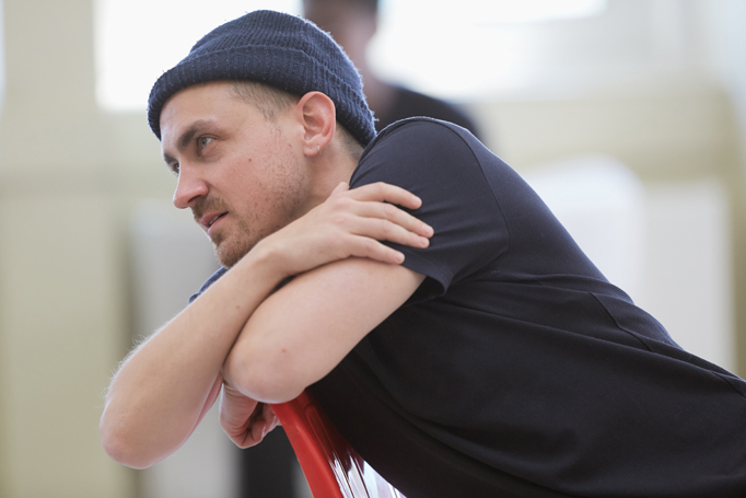 Joel Gillman in rehearsals for One Flew Over the Cuckoo's Nest. Photo: Mark Douet