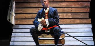 Paterson Joseph in Sancho: An Act of Remembrance at Wilton's Music Hall, London. Photo: Robert Day