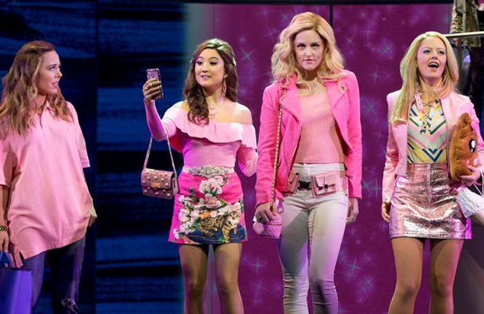 Ashley Park (second from left) in Mean Girls, with co-stars Erika Henningsen, Taylor Louderman and Kate Rockwell. Photo: Joan Marcus