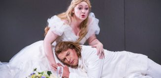 Jennifer Davis and Klaus Florian Vogt in Lohengrin at the Royal Opera House, London. Photo: Tristram Kenton