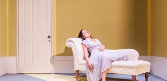 Gemma Yates-Round in The Yellow Wallpaper at Omnibus Theatre, London. Photo: Lidia Crisafulli