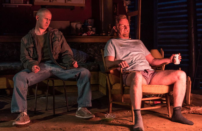 Adam Gillen and Steffan Rhodri in Killer Joe. Photo: Marc Brenner