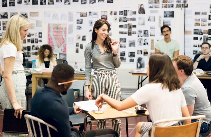 Natalie Abrahami (centre) with cast of Machinal during rehearsals. Photo: Johan Persson