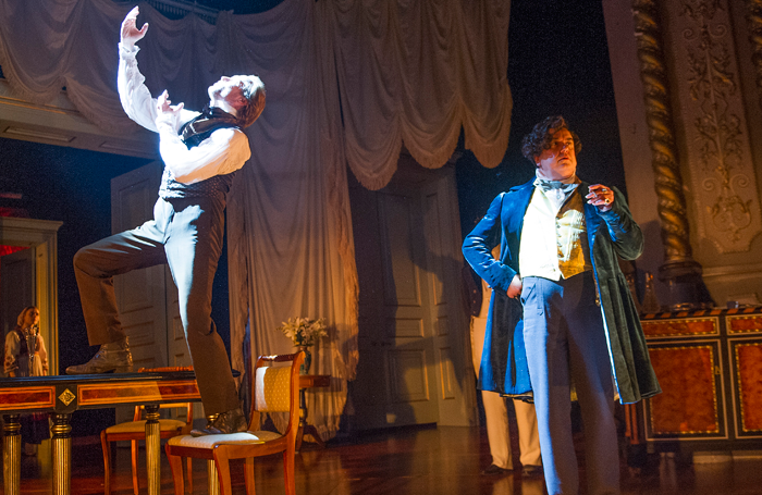 Iain Glen and Richard McCabe in Fortune's Fool at the Old Vic. Photo: Tristram Kenton