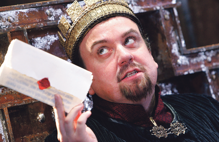 Richard McCabe in King John at the Swan Theatre, Stratford-upon-Avon in 2006. Photo: Tristram Kenton