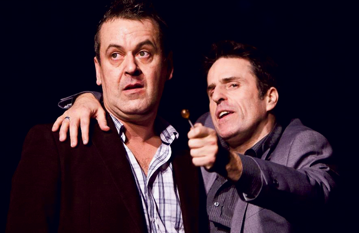Alan Stocks and Con O'Neill in Dead Heavy Fantastic (2011). Photo: Helen Warner