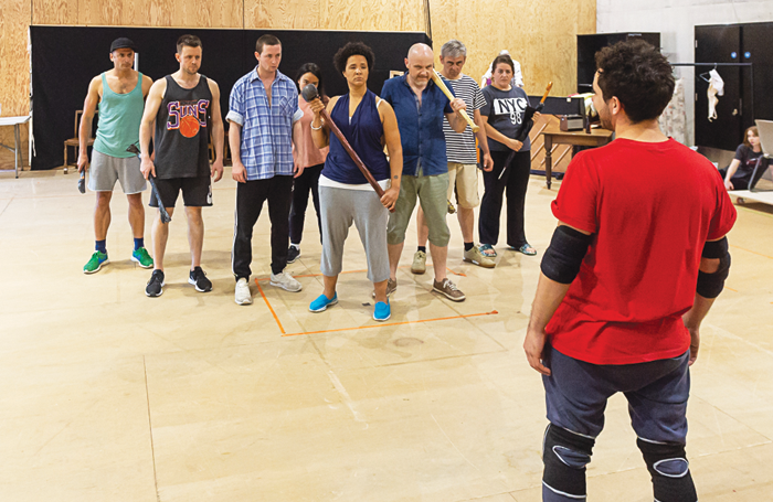 The cast in rehearsals for The Big I Am. Photo: Brian Roberts