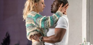 Vanessa Kirby and Eric Kofi Abrefa in Julie at the National Theatre. Photo: Richard H Smith