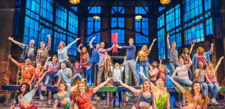 The cast of Kinky Boots at the Adelphi Theatre. Photo: Matt Crockett