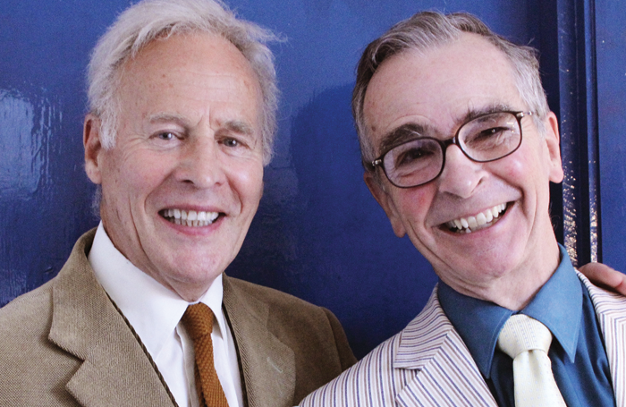 Actor Mark Wynter with British Music Hall Society secretary Edward Thomas. Photo: Peter Turne