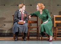 Nicola Coughlan and Lia Williams (Jean Brodie) in The Prime of Miss Jean Brodie, Donmar Warehouse. Photo Manuel Harlan