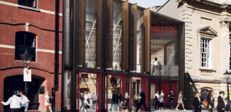 Bristol Old Vic's new entrance and foyer, which opens in September. Image: Haworth Tompkins