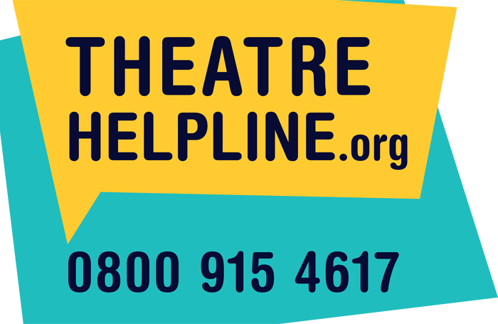 Theatre Helpline poster. Credit: UK Theatre/SOLT