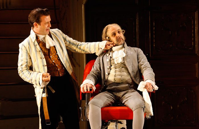 Charles Rice and Riccardo Novaro in The Barber of Seville at the Grange Festival. Photo: Simon Annand