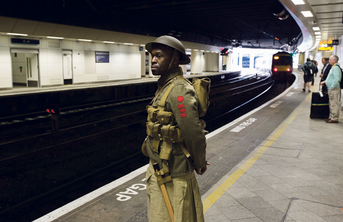 Morgan oversaw Jeremy Deller's collaboration with the National Theatre, We're Here Because We're Here, which commemorated the Battle of the Somme's centenary in 2016. Photo: Andrew Fox