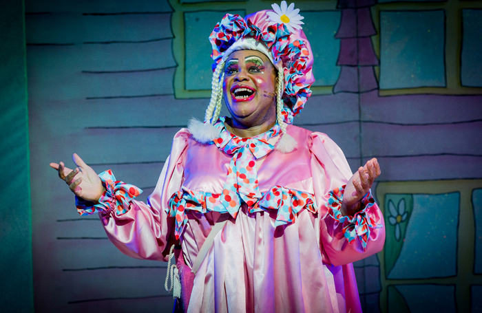 Clive Rowe in Hackney Empire's Jack and the Beanstalk in 2015. Photo: Robert Workman