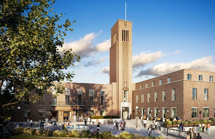 An artist's impression of Hornsey Town Hall's redevelopment