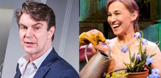 Alexander Hanson, pictured in Truth at the Menier Chocolate Factory in 2016, and Joanna Riding, in 2017's The Girls, are joining the cast of Follies at the National Theatre