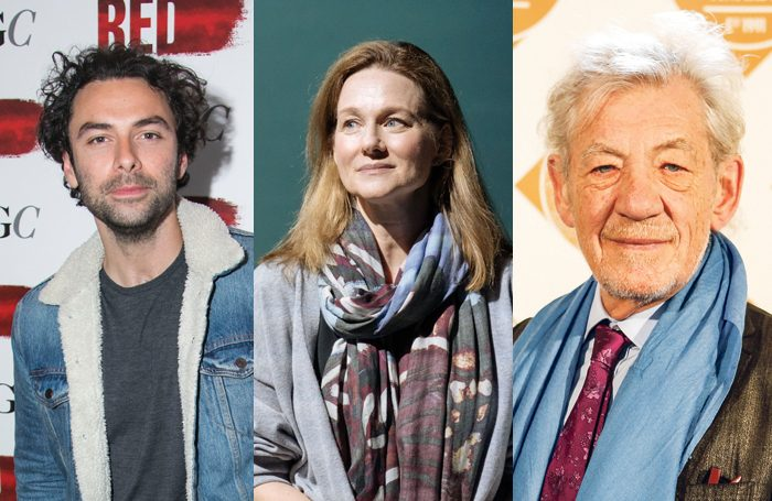 Aiden Turner, Laura Linney and Ian McKellen. Photos: Dan Wooler, Manuel Harlan and Pamela Raith