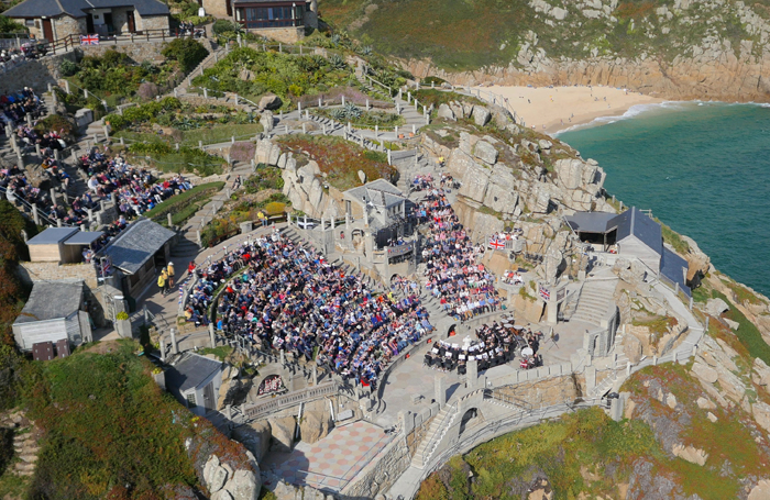 The Minack proms from above