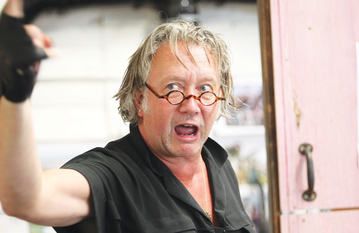 Jasper Britton as Johnny 'Rooster' Byron in rehearsals for Jerusalem at the Watermill Theatre. Photo: Philip Tull