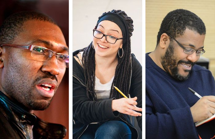 Kwame Kwei-Armah, Lynette Linton and Roy Williams are among the writers that have written monologues for the Royal Court to mark 70 years since the arrival of the Empire Windrush. Photos: Amplified 2010, Robert Day
