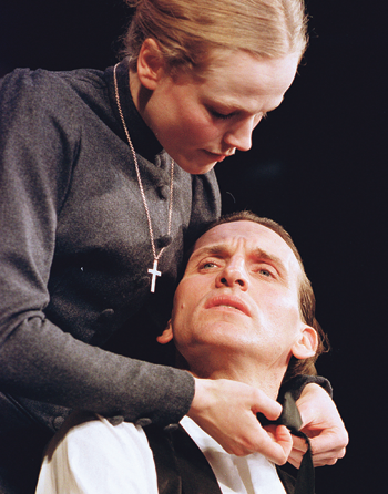 Maxine Peake with Christopher Eccleston in Miss Julie at Theatre Royal Haymarket in 2000. Photo: Tristram Kenton