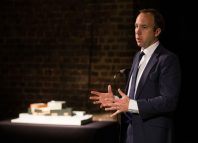 "Culture secretary Matt Hancock, who said the Roundhouse's ""ambitious expansion plan"" would help new talent break through. Photo: John Williams"