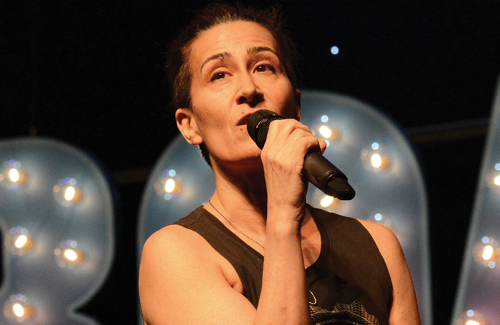 Jeanine Tesori performing at New York's BroadwayCon event last year