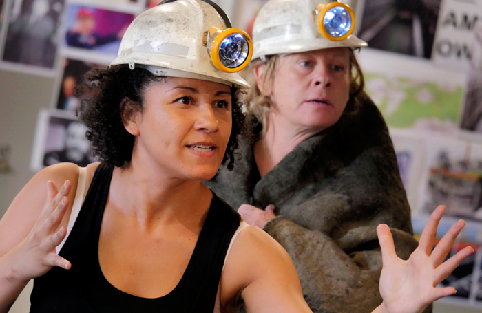 Danielle Henry and Jane Hazlegrove in rehearsals for Queens of the Coal Age. Photo: Keith Pattison