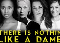 Poster for Lambert Jackson's Nothin' Like a Dame, featuring Alexia Khadime, Louise Dearman, Rachel Tucker and Ria Jones