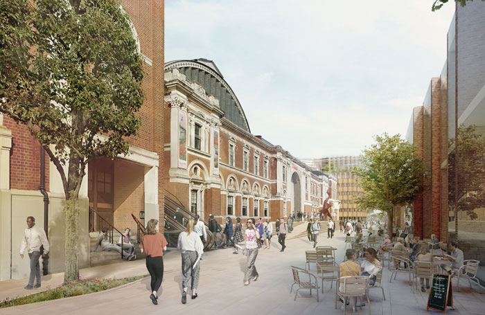 Architect's impression of the redeveloped Olympia exhibition centre in west London