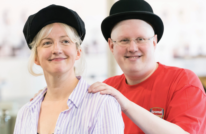 Alex Young and Matt Lucas in rehearsal for Chichester Festival Theatre's Me and My Girl. Photo: Johan Persson