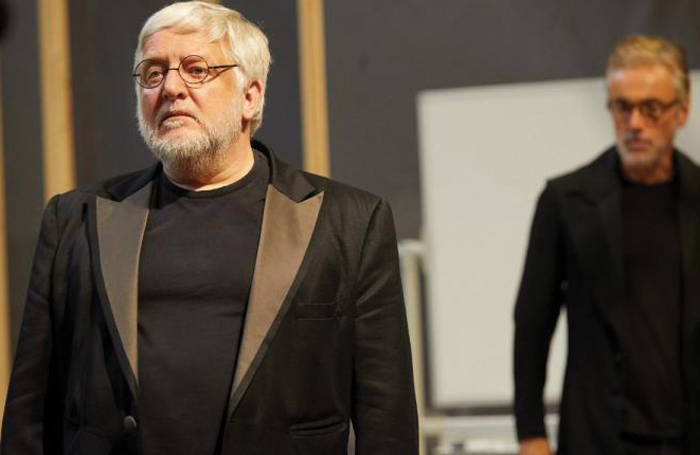 Simon Russell Beale in rehearsals for The Lehman Trilogy. Photo: Mark Douet