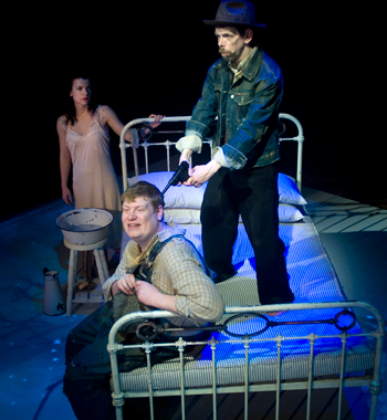 Jez Colborne (right) in Of Mice and Men. Photo: Tim Smith / Mind the Gap
