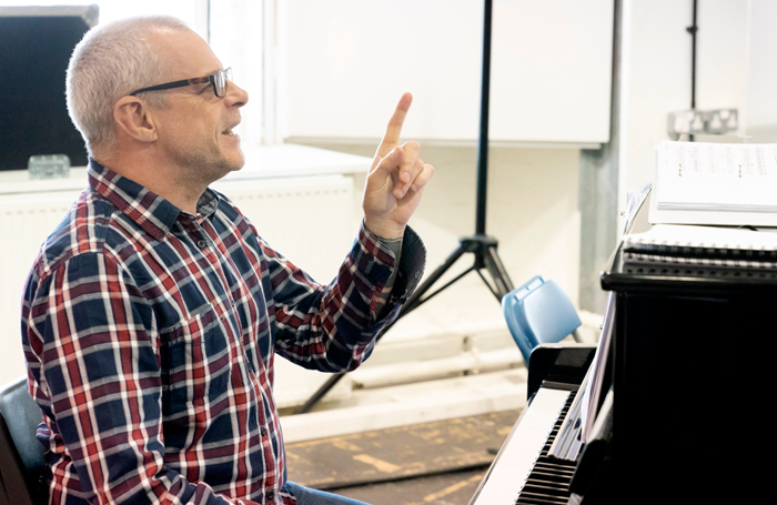 Gareth Valentine in rehearsals for Me and My Girl. Photo: Johan Persson