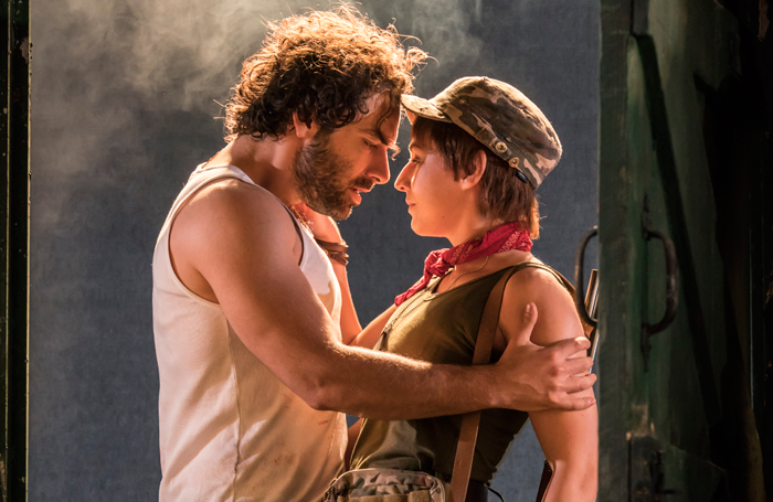 Aidan Turner and Charlie Murphy in The Lieutenant of Inishmore. Photo: Johan Persson