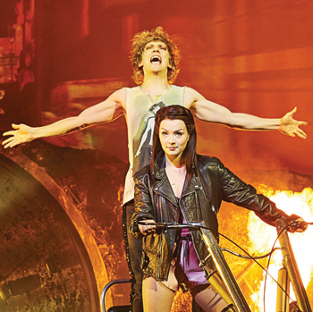 Andrew Polec and Christina Bennington in Bat Out of Hell. Photo: Specular