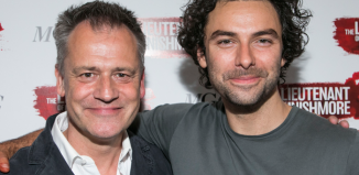 Director Michael Grandage and cast member Aidan Turner at the press night of The Lieutenant of Inishmore. Photo: Dan Wooller