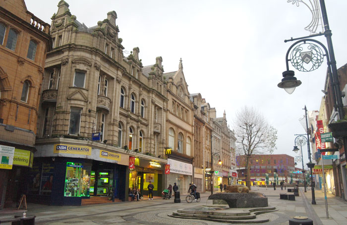 Upper Bridge Street, Warrington. Plans for a new theatre in the town have been back by the borough council