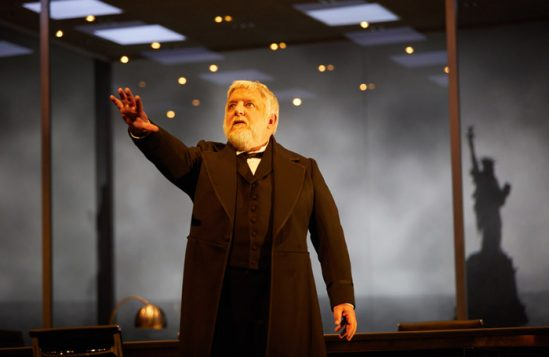 Simon Russell Beale in The Lehman Trilogy at the National Theatre. Photo: Mark Douet
