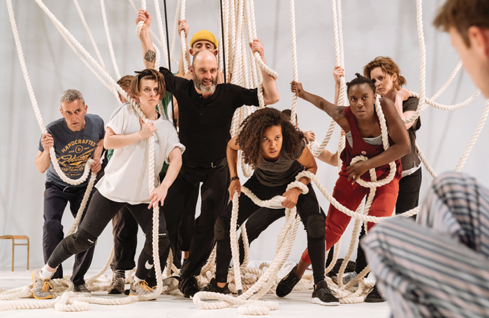 Cast of a Monster Calls in rehearsals. Photo: Manuel Harlan