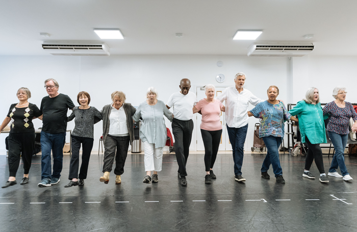 The cast of Allelujah! in rehearsal. Photo: Manuel Harlan
